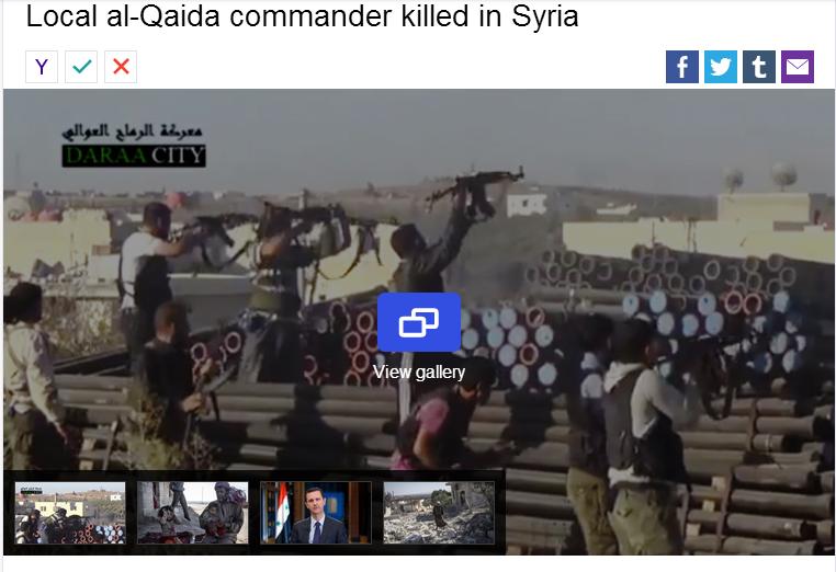 local al-qaida commander killed in syria 17.9.2013