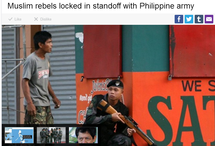 jihadis locked in standoff with phillipine army 9.9.2013