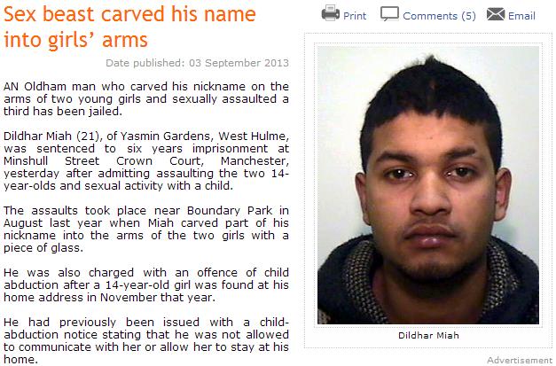 muslim sex beast carves his name on girls arm 4.9.2013