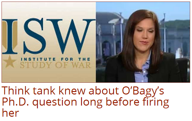 obagy and her fake phd isw knew about it long before firing her. 12.9.2013