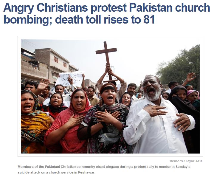 pakistani christians protest murderous attacks against them 25.9.2013