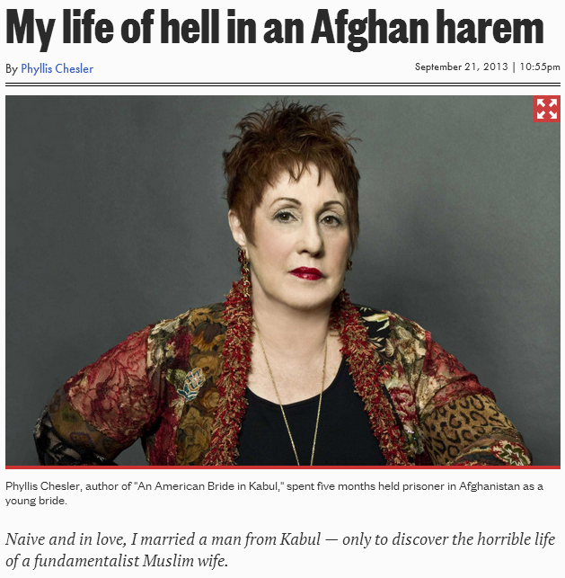 phyllis chesler new book an american bride in an afghan harem 22.9.2013