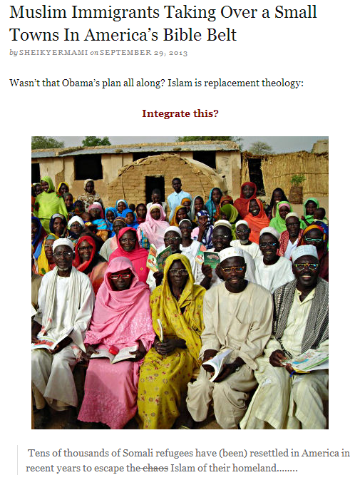 somali muslims taking over in us small towns 30.9.2013