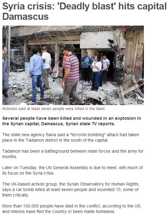 syria deadly crisis 27.9.2013
