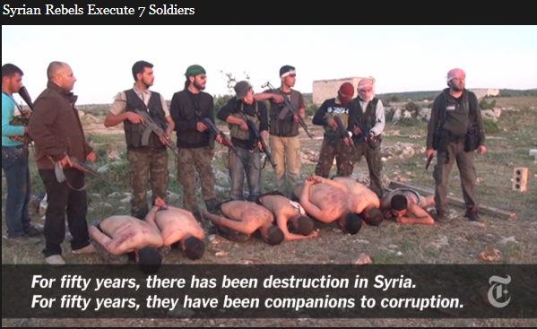 syrian soldiers executed by rebel jihadis