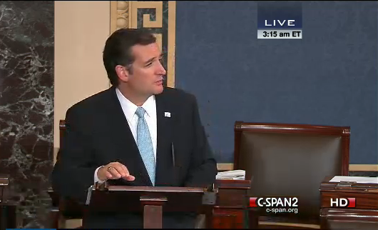 ted wages filibuster 24.9.2013