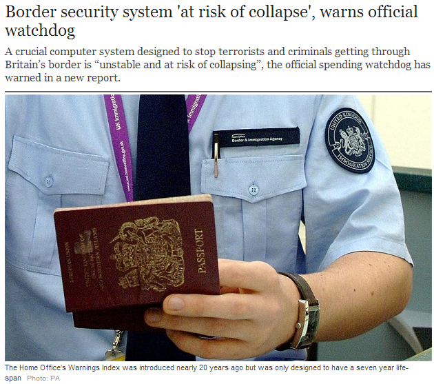 uk border system on verge of collapse 4.9.2013