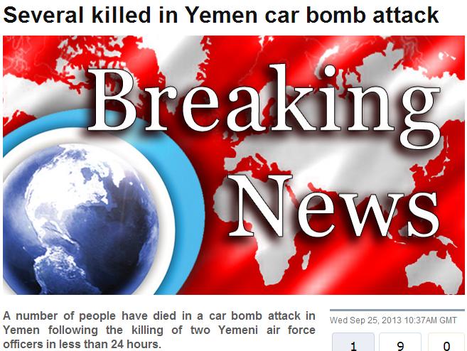yemen car bomb 25.9.2013