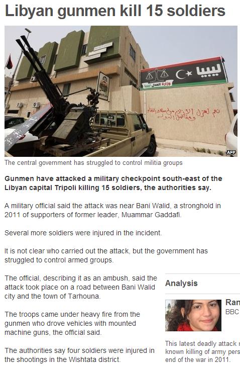 15 dead in libya 7.10.2013