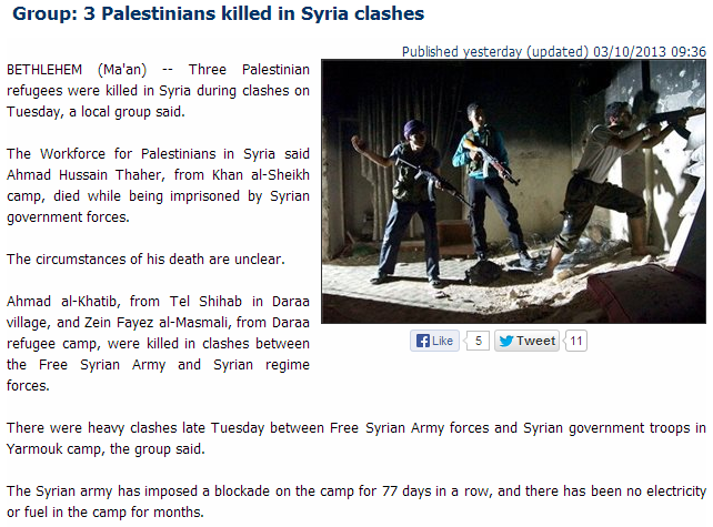 3 palis killed in syrian fighting 3.10.2013