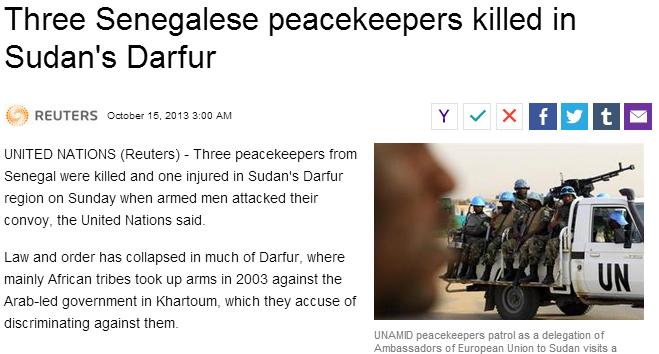 3 senegalese killed in darfur 16.10.2013