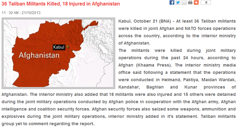 36 taliban dead 22.11.2013