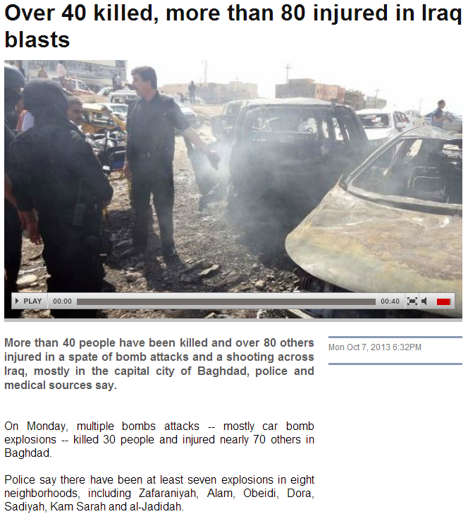 40 plus dead in iraq violence 8.10.2013