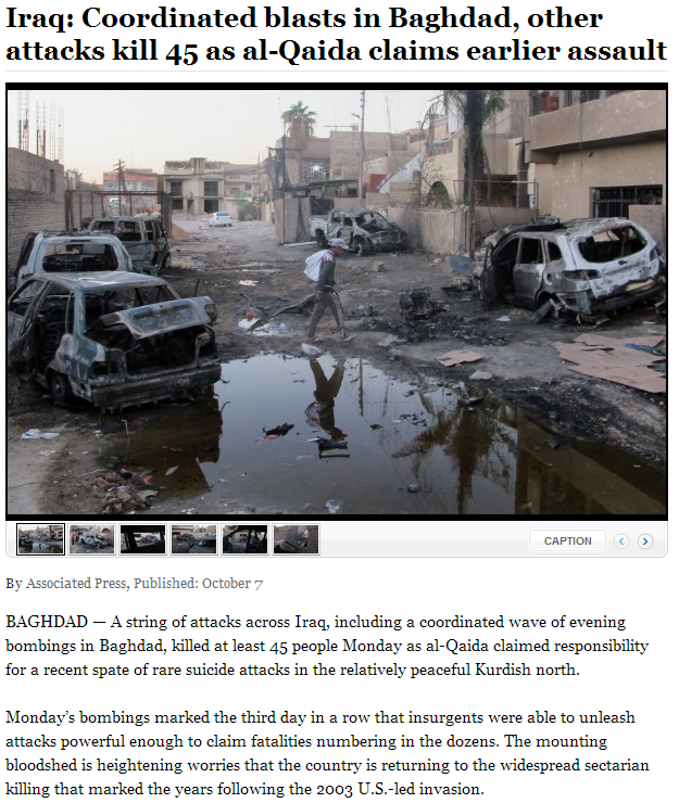 45 iraq deaths in coordinated attacks 8.10.2013