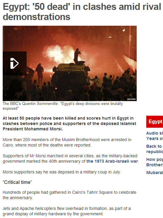 50 dead in egyptian riots 7.10.2013