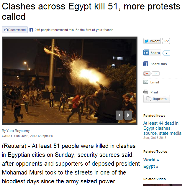 51 dead in egypt 7.10.2013