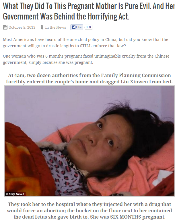 CHINESE GOV FORCE WOMAN TO HAVE ABORTION 7.10.2013