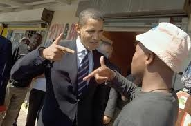 OBAMA AND THE HOOD