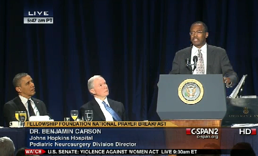 ben carson with obama 2.10.2013