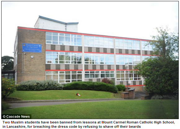 catholic school bans muslim students who refused to shave off their beards 4.10.2013