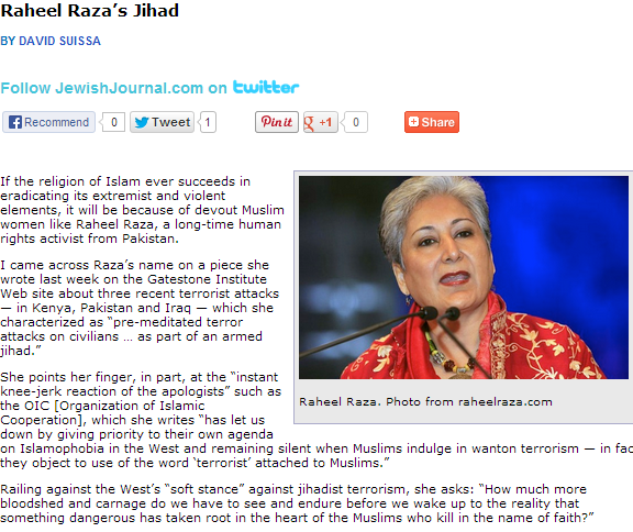 david suissa hearts raheel raza on moderate islam myth 6.10.2013