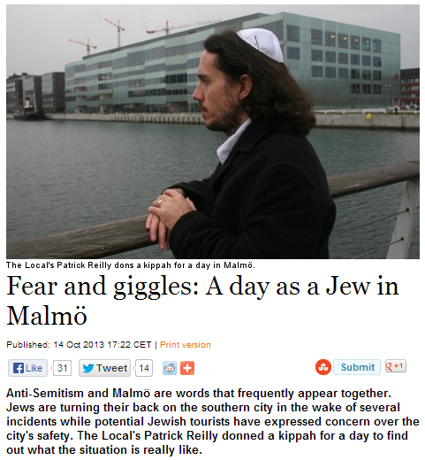 fear and giggles for jew for day in malmö 15.10.2013