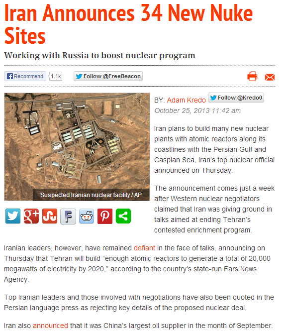 iran announces 34 more nuke sites 25.10.2013