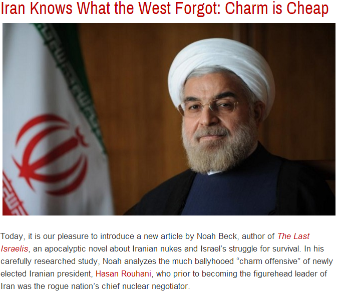 iran knows what the west forgot, charm is cheap 9.10.2013