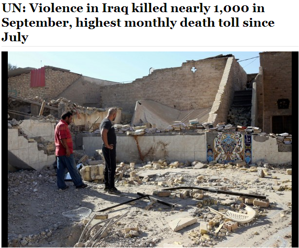 iraq violence kills 1000 this month 2.10.2013