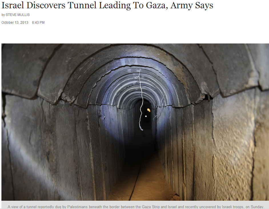 israel discovers terror tunnel 14.10.2013