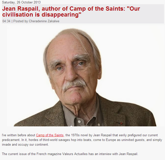 jean raspail 'our civilization is disappearing 29.10.2013