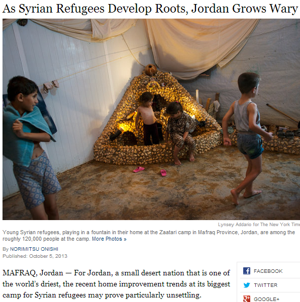 jordanian worry as syrian refugees in the land deepn their roots 9.10.2013