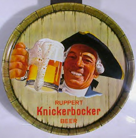 knickerbocker beer tray with knick man 1950