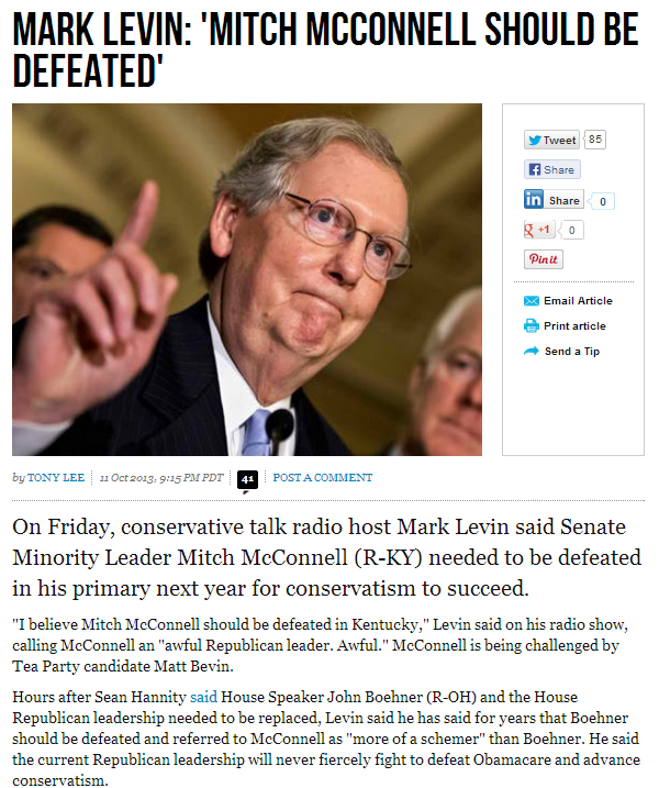 mark levin mitch mcconnell should be defeated 12.10.2013