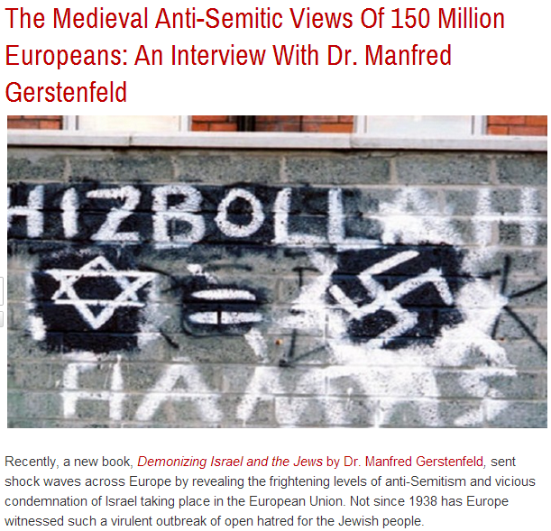 med-evil antisemitic views of 150 million europeans interview with dr.manfred gerstenfeld 20.10.2013