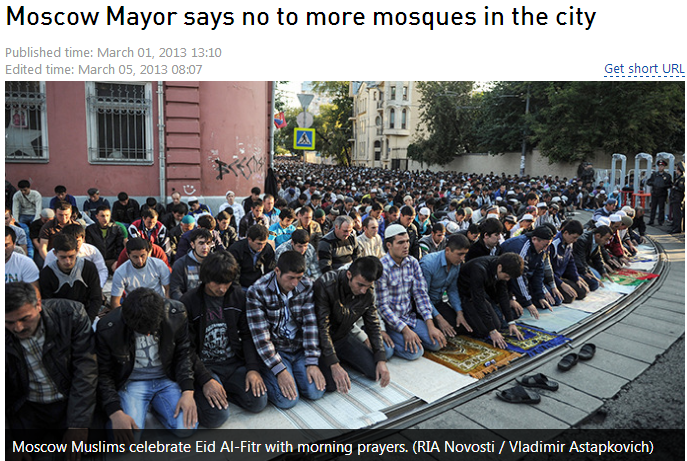 moscow mayor says no more new mosques 6.10.2013