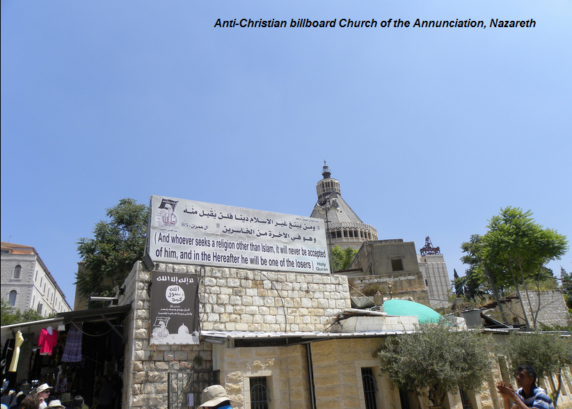 nazareth anti-christian sign