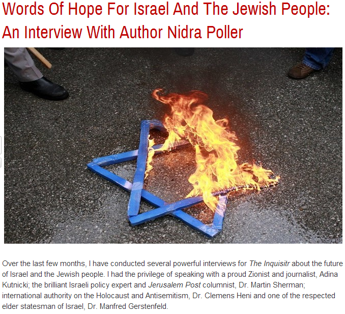 nidra poller interview- words of hope for israel and the jewish people 4.10.2013