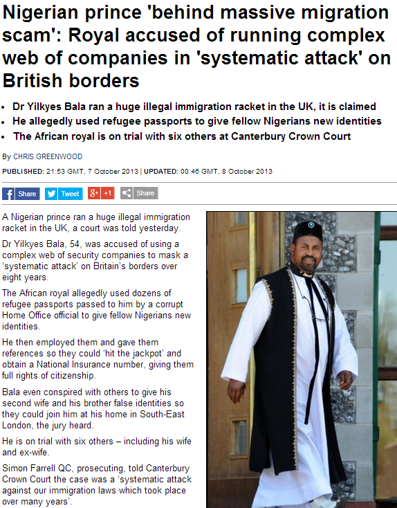 nigerian prince runs massive attack on uk borders 8.10.2013
