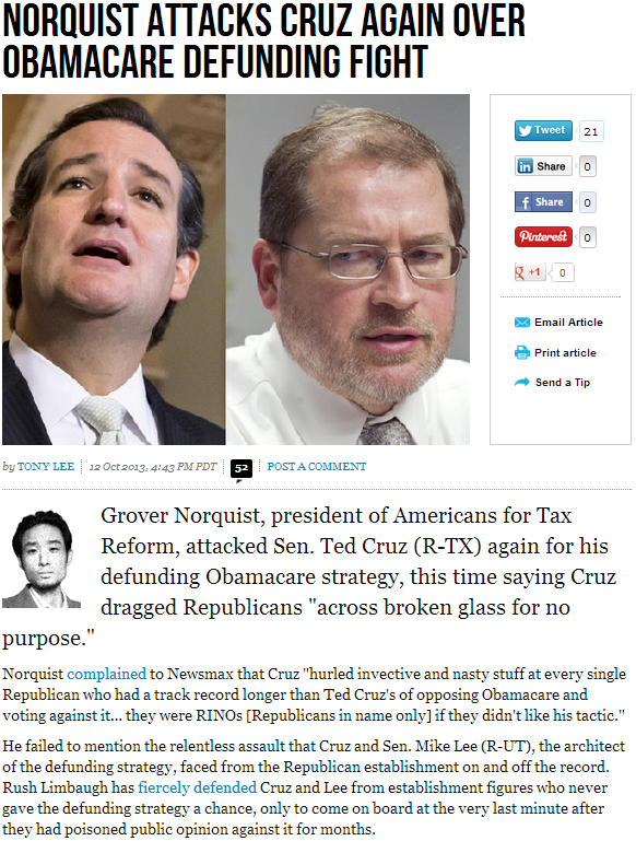 norquist attacks cruz 13.10.2013
