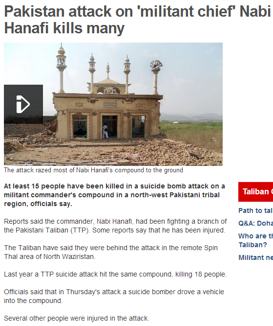 pak attack on militant chief 4.10.2013