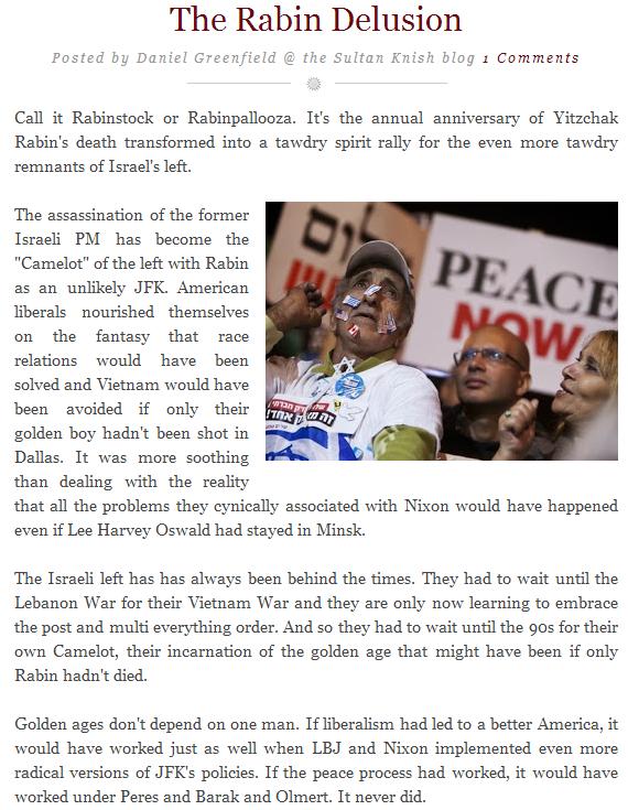 rabin delusion sultan knish 13.10.2013