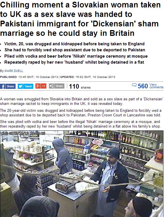 slovakian muslim sex slave in UK 11.10.2013