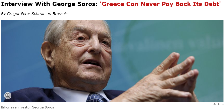 soros- greece can never pay back its debt 8.10.2013