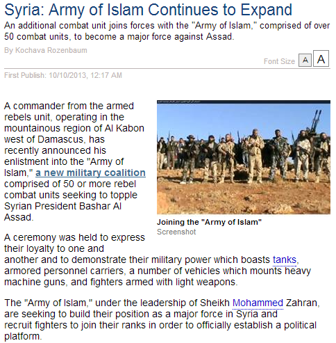 syria- army of islam expands 10.10.2013