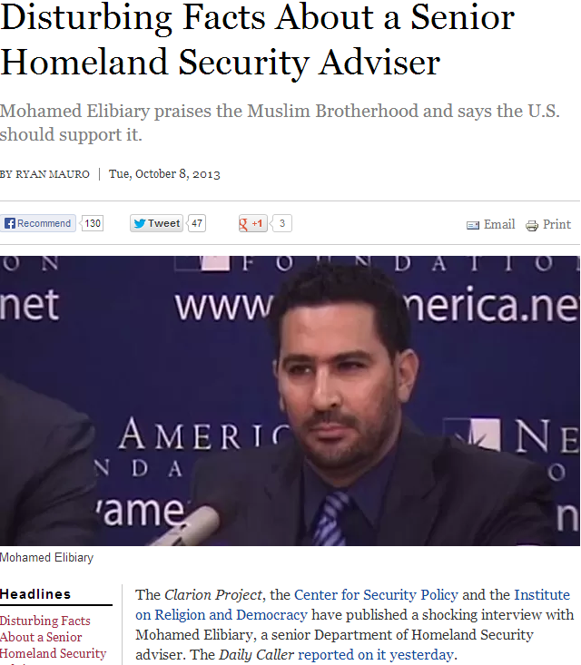 tard senior homeland security advisor mohamed elibiary 9.10.2013
