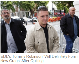 tommy robinson fomring new group after edl quit