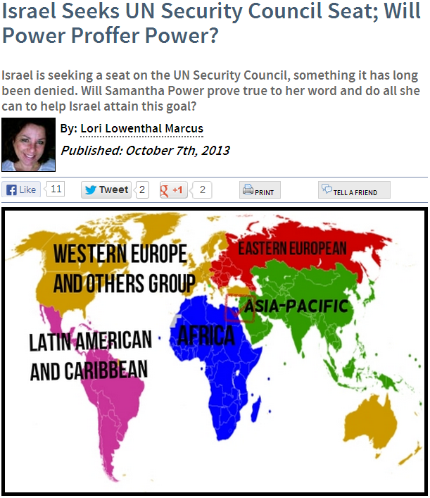 will power help israel to gain security council seat 7.10.2013