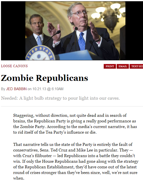 zombie establishment republicans 22.10.2013