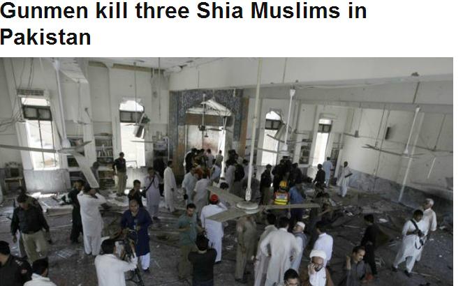 3 shiia dead in pakistan 10.11.2013